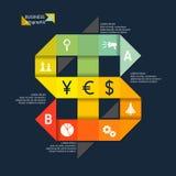 Illustrazione di vettore dell'affare infographic Fotografia Stock