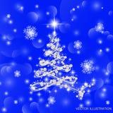 Illustrazione di vettore dell'albero di Natale Fotografia Stock