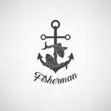 Illustrazione di vettore dell'ancora nautica Simbolo dei marinai, della vela, della crociera e del mare Progettazione di viaggio  Fotografia Stock