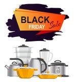 Illustrazione di vettore dell'annuncio di vendita di Black Friday Immagini Stock Libere da Diritti