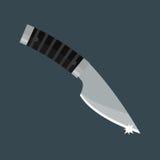 Illustrazione di vettore dell'arma del pugnale del coltello Fotografia Stock