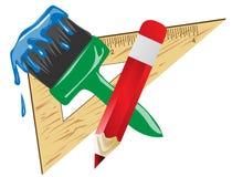 Illustrazione di vettore dell'attrezzatura di arte Fotografie Stock