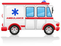Illustrazione di vettore dell'automobile dell'ambulanza Fotografie Stock Libere da Diritti