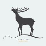 Illustrazione di vettore dell'etichetta dei cervi Immagine Stock Libera da Diritti