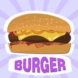 Illustrazione di vettore dell'hamburger Immagine Stock