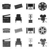 Illustrazione di vettore dell'icona di contaminazione e della televisione Raccolta della televisione ed icona d'esame di vettore  royalty illustrazione gratis