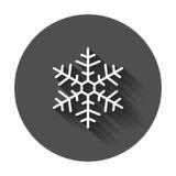 Illustrazione di vettore dell'icona del fiocco di neve nello stile piano Fotografie Stock