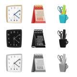 Illustrazione di vettore dell'icona del lavoro e della mobilia Insieme di mobilia ed icona domestica di vettore per le azione illustrazione vettoriale
