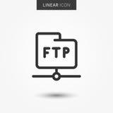 Illustrazione di vettore dell'icona della cartella del ftp illustrazione di stock
