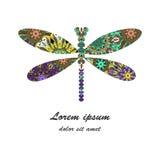 Illustrazione di vettore dell'icona della libellula illustrazione vettoriale