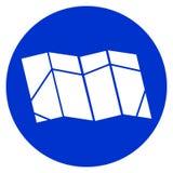 Illustrazione di vettore dell'icona della mappa, logo della mappa per il web illustrazione vettoriale