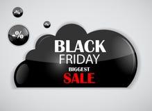 Illustrazione di vettore dell'icona di vendita di Black Friday royalty illustrazione gratis