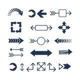 Illustrazione di vettore dell'icona di web della freccia Immagini Stock Libere da Diritti