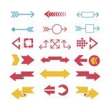 Illustrazione di vettore dell'icona di web della freccia Fotografia Stock