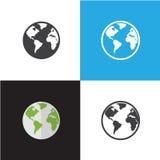 Illustrazione di vettore dell'icona di web e di Internet Immagini Stock Libere da Diritti