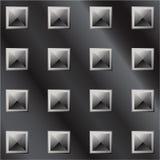 Illustrazione di vettore dell'impronta scura della piramide del metallo Immagini Stock