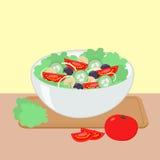 Illustrazione di vettore dell'insalatiera Fotografia Stock