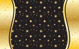 Illustrazione di vettore dell'invito del fondo dell'oro Fotografia Stock