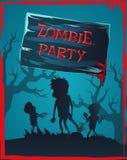 Illustrazione di vettore dell'invito del partito dello zombie royalty illustrazione gratis