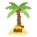 Illustrazione di vettore dell'isola del tesoro Immagine Stock