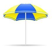 Illustrazione di vettore dell'ombrello di colore della spiaggia Fotografie Stock