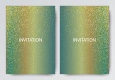 Illustrazione di vettore dell'opuscolo dorato per progettazione, sito Web, fondo, insegna royalty illustrazione gratis