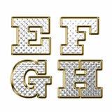 Illustrazione di vettore dell'oro di alfabeto inglese Fotografia Stock