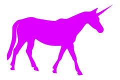 Illustrazione di vettore dell'unicorno rosa Fotografia Stock