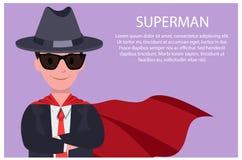 Illustrazione di vettore dell'uomo e del testo del manifesto del superman Royalty Illustrazione gratis