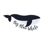 Illustrazione di vettore della balena Progettazione di simbolo Immagini Stock