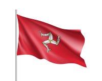 Illustrazione di vettore della bandiera nazionale dell'Isola di Man Immagine Stock