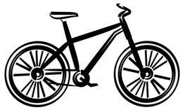 Illustrazione di vettore della bicicletta Fotografia Stock