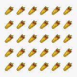 Illustrazione di vettore della carta da parati del modello degli alimenti a rapida preparazione di kebab Fotografia Stock Libera da Diritti