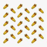 Illustrazione di vettore della carta da parati del modello degli alimenti a rapida preparazione di kebab Fotografia Stock