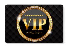 Illustrazione di vettore della carta dei membri di VIP Fotografia Stock