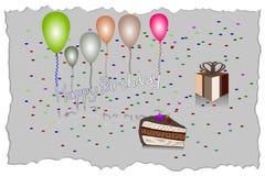 Illustrazione di vettore della cartolina d'auguri di buon compleanno EPS10 Fotografia Stock Libera da Diritti