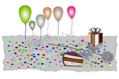Illustrazione di vettore della cartolina d'auguri di buon compleanno EPS10 Fotografia Stock