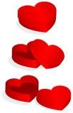 Illustrazione di vettore della casella a forma di del biglietto di S. Valentino del cuore illustrazione di stock