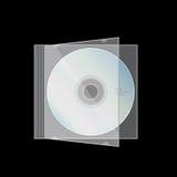 Illustrazione di vettore della cassa del CD di CD-DVD immagine stock libera da diritti