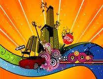 Illustrazione di vettore della città illustrazione di stock
