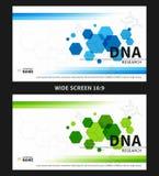 Illustrazione di vettore della copertura di ricerca del DNA Immagini Stock Libere da Diritti