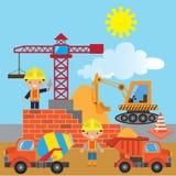 Illustrazione di vettore della costruzione illustrazione di stock
