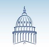Illustrazione di vettore della cupola degli Stati Uniti Campidoglio Fotografia Stock
