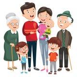Illustrazione di vettore della famiglia felice illustrazione vettoriale