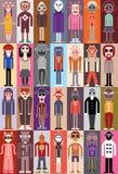 Illustrazione di vettore della gente Fotografie Stock