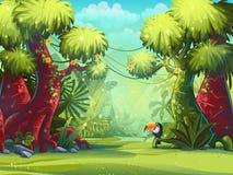 Illustrazione di vettore della giungla illustrazione vettoriale