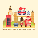 Illustrazione di vettore della Gran Bretagna e di Londra Fotografia Stock Libera da Diritti