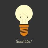 Illustrazione di vettore della lampadina Illustrazione di Stock