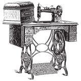 Illustrazione di vettore della macchina per cucire antica Immagini Stock Libere da Diritti