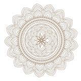 Illustrazione di vettore della mandala del fiore Immagine Stock